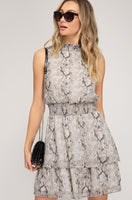Ruthey Snakeprint Dress