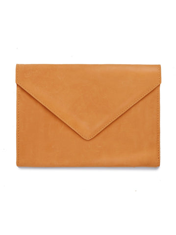 Tigist Leather Clutch in Cognac