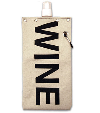 "Tote & Able Canvas Flask ""Wine"" 25oz"