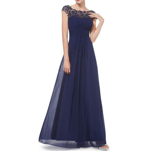 Women's Party Elegant Maxi Swing Dress - Solid Colored Backless Lace Black Wine Royal Blue S M L XL