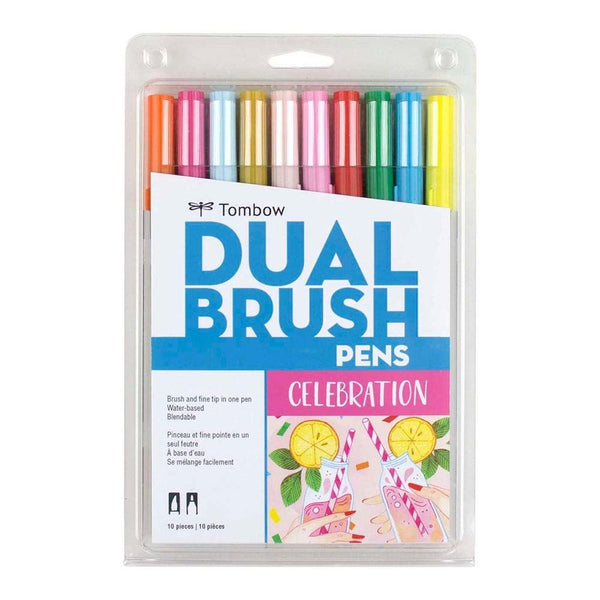 Marcadores Tombow Dual Brush Set 10 Colores Celebración