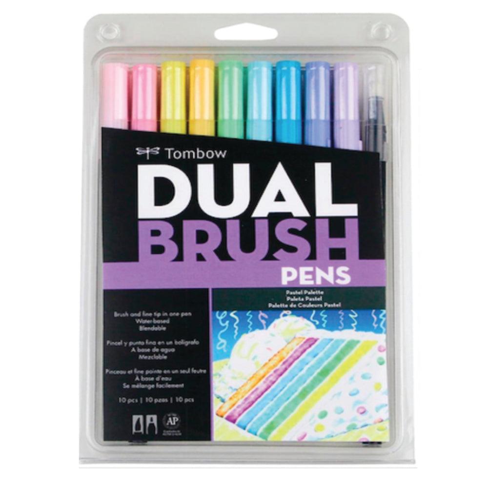 Marcadores Tombow Dual Brush Set 10 Colores Pastel