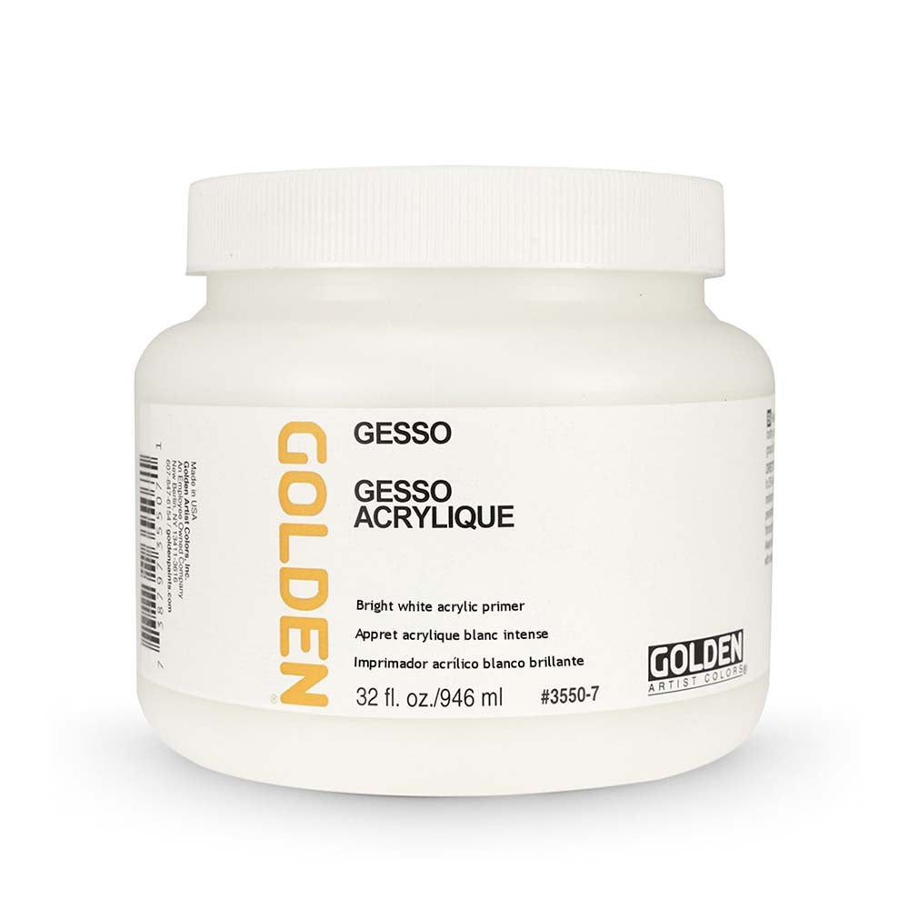 Gesso Golden #3550 Blanco Brillante  946 ml.