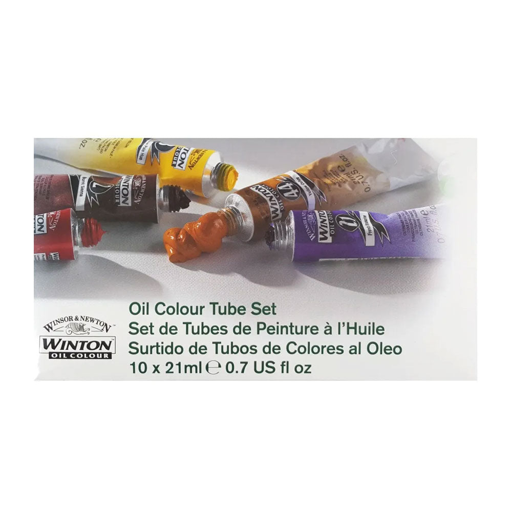 Set de pintura óleo 10 colores tubos 21ml