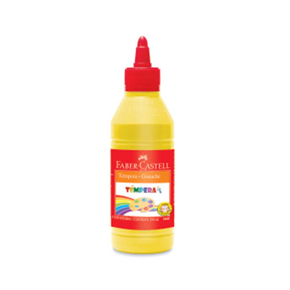 Tempera botella 250ml amarillo