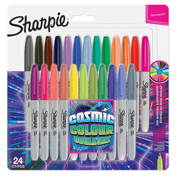 Marcador Sharpie Punta Fina Colores Cosmicos  Set 24