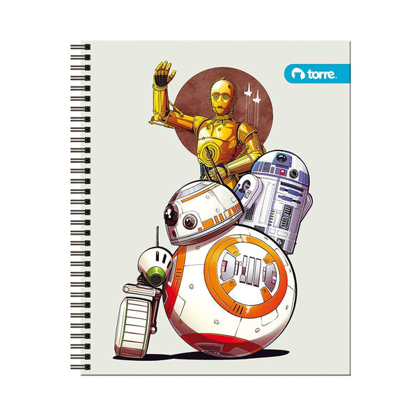 Cuaderno universitario clasico Star wars 7mm 100h