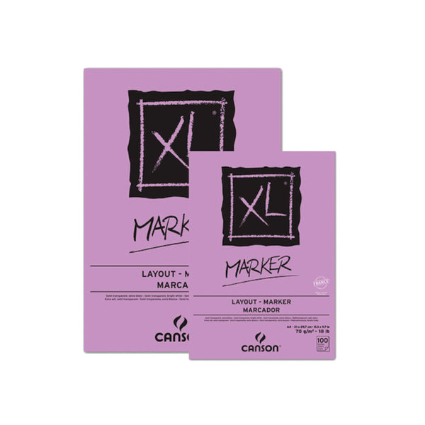 CROQUERA CANSON XL MARKER A4 21x29 LILA 100hjs 70gr
