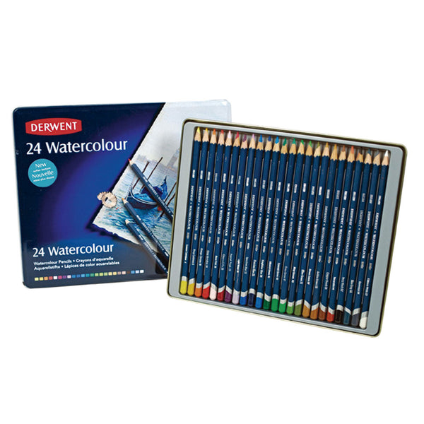 Set de 24 lápices Acuarelables Watercolour caja metálica