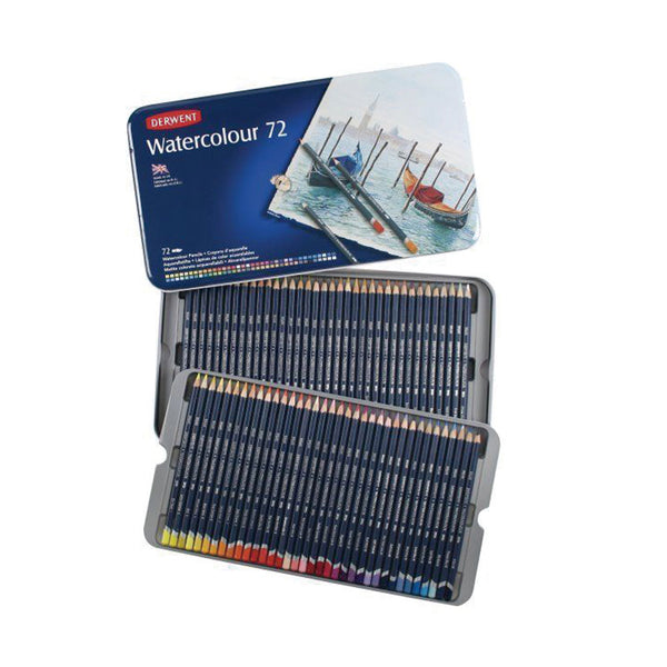 Set de 72 lápices Acuarelables Watercolour caja metálica
