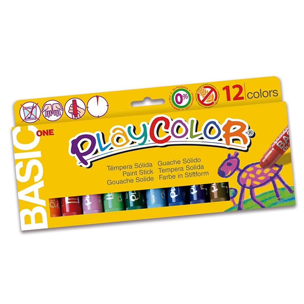 Tempera solida 12 colores10gr playcolor #10731