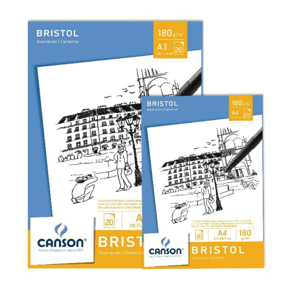PAPEL CANSON BRISTOL 20 hj  180 grs A4 21x29