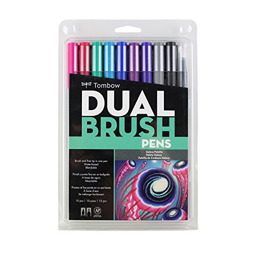 Marcadores Tombow Dual Brush Set 10 Colores Galaxy