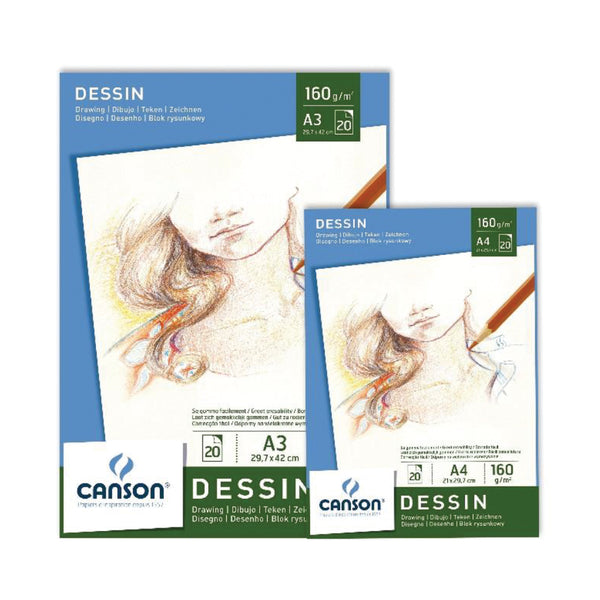 PAPEL CANSON DESSIN 20hj 160gr A4 21x29