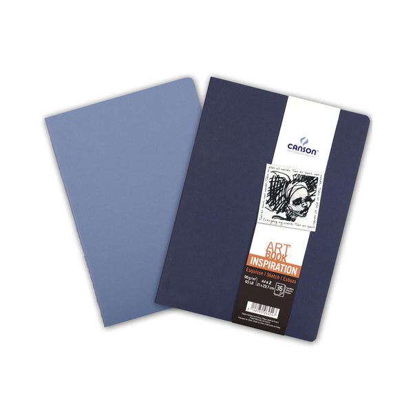 Set 2 libretas azules A6 Art Book Inspiration