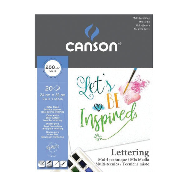 PAPEL CANSON LETTERING MIX MEDía 20 hj  200gr 24x32