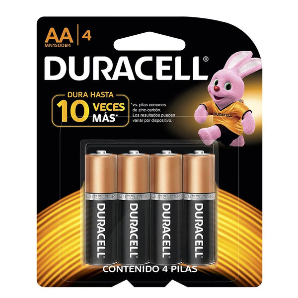 Pack Duracell AA 4 Unidades