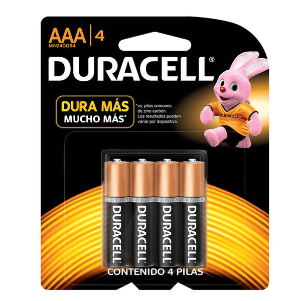 Pack Duracell AAA 4 Unidades