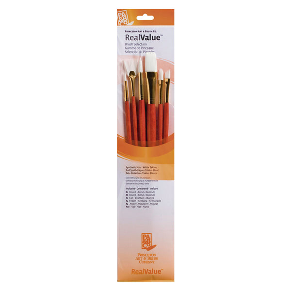 Set 7 pinceles pelo natural Rojo RealValue