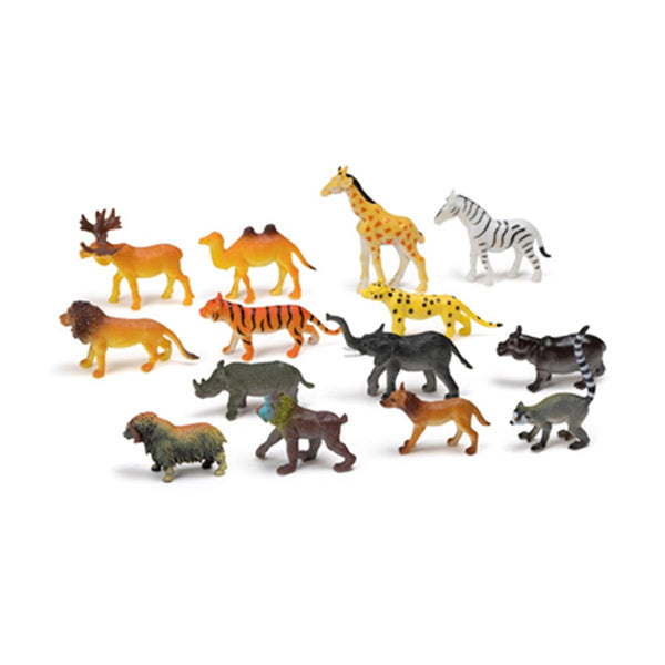Set de 14 animales salvajes
