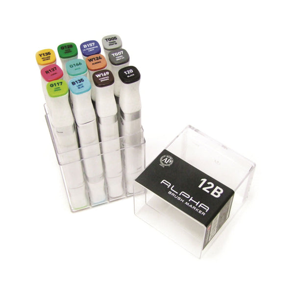 Set de 12 marcadores Color Brush Marker