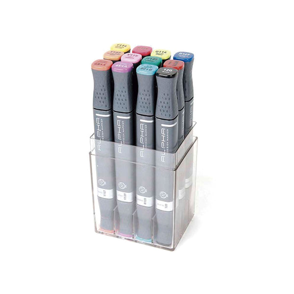 Set de 12 marcadores Color Design Marker