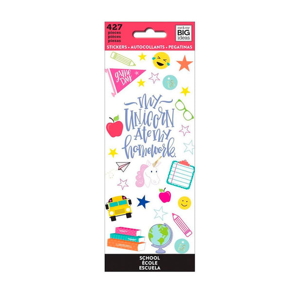 Set Stickers Happy Planner Escuela Happy Planner