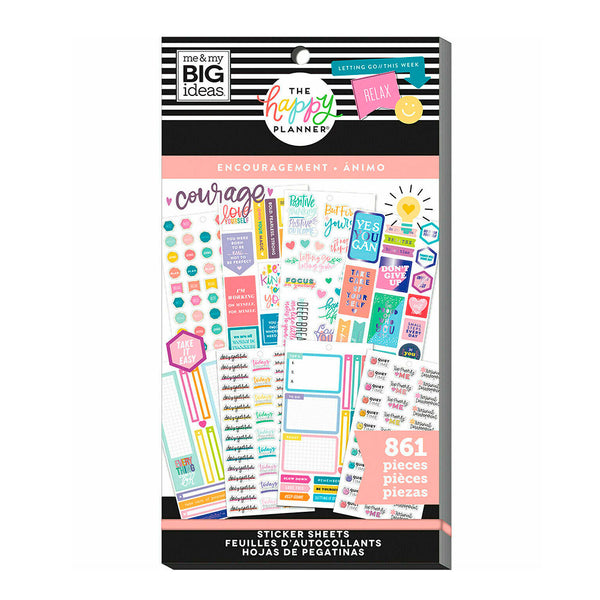 Set Stickers Happy Planner Ánimo