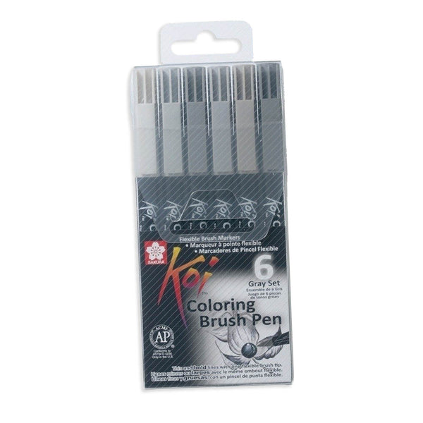 Set 6 Blush Pen Acuarelable Koi Coloring Brush GRAY
