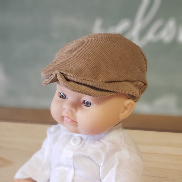 Brown Courdory Newsboy Cap