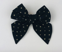 Black and Shiny Gold Sailor Bow