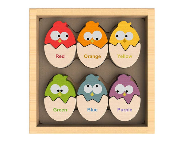 Color 'N Eggs - Bilingual Matching Puzzle