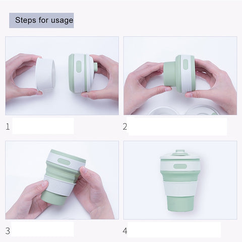 Green-Collapsible Cup sleeve | GoInsShop