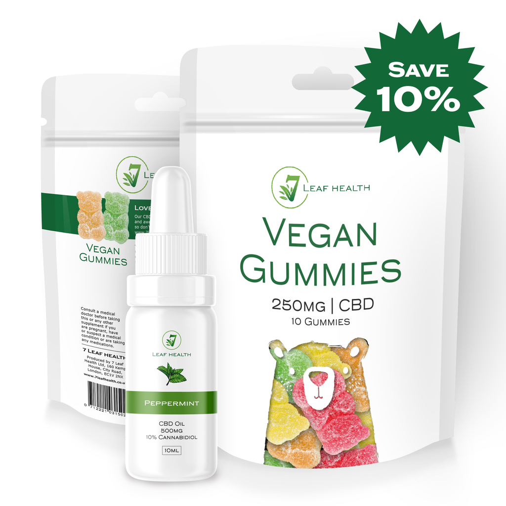 CBD Oil 10ml Peppermint (500mg) & Gummy Bundle