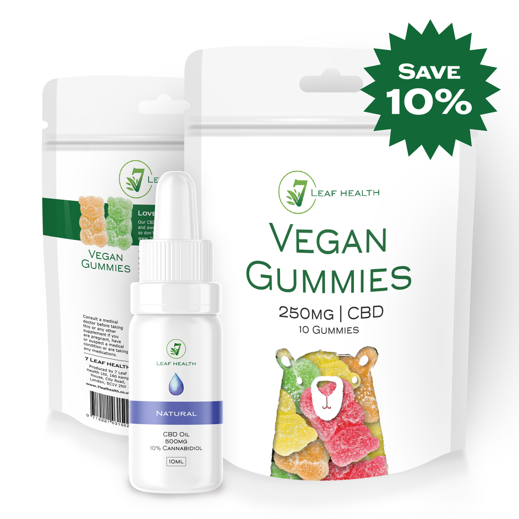 CBD Oil 10ml Natural (500mg) & Gummy Bundle