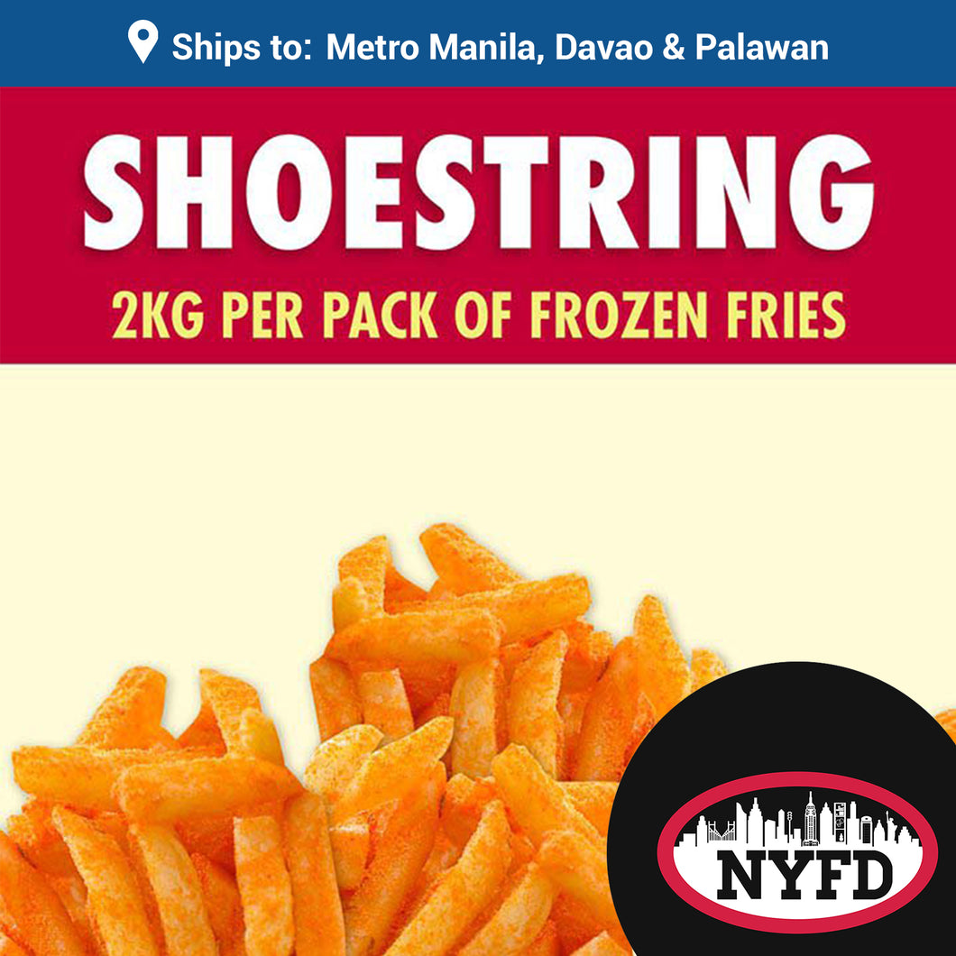 Frozen Shoestring Fries (2KG per pack)
