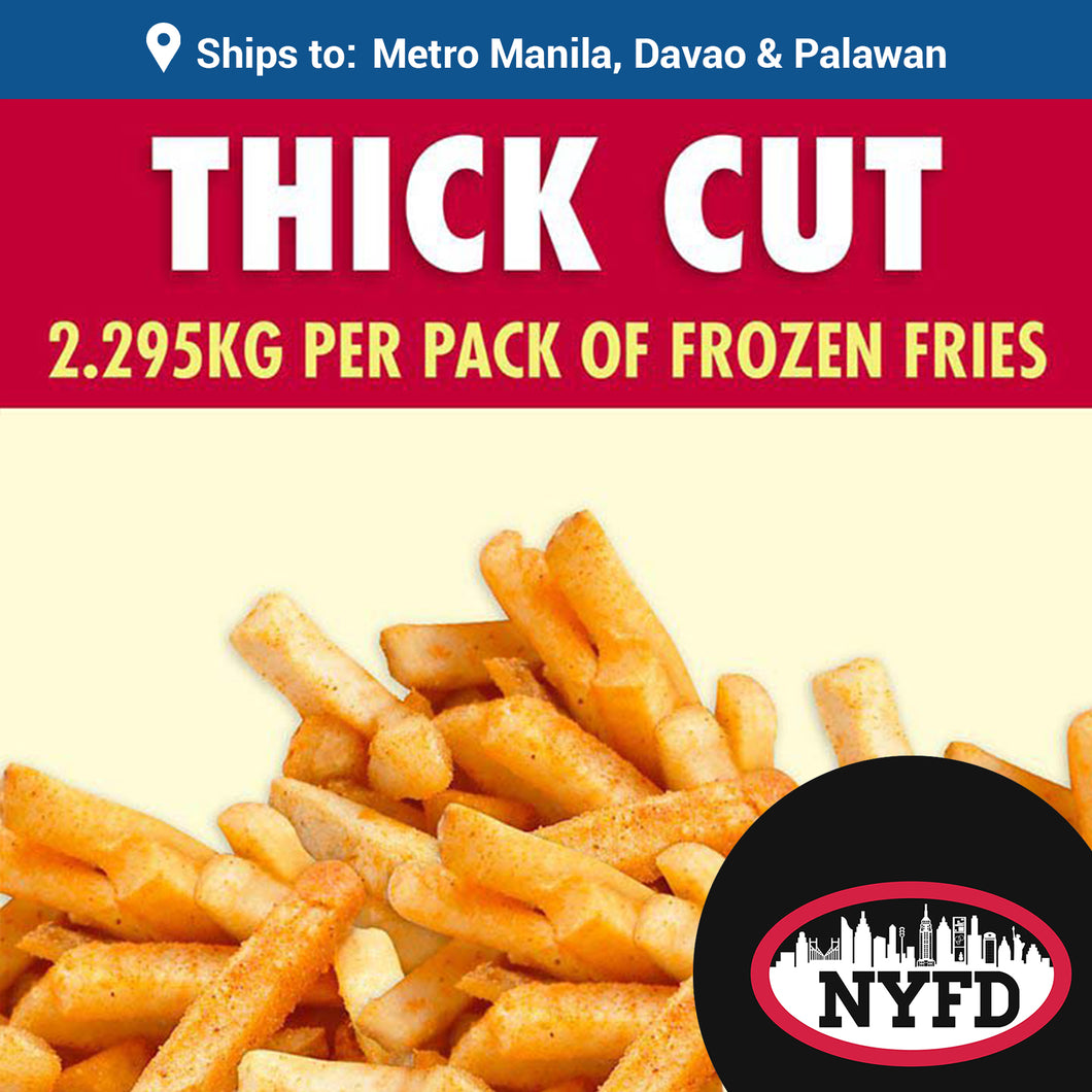Frozen Thick Cut Fries (2.295 KG per pack)