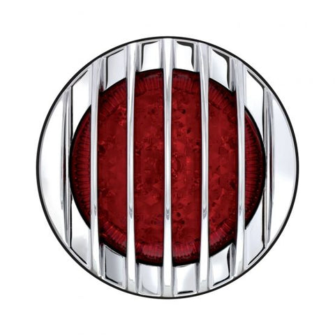1937 Ford Style 17 LED Tail Light with Chrome Grille Style Flush Mount