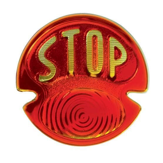"1928-31 Ford Tail Light Glass Lens with ""STOP"" Script"