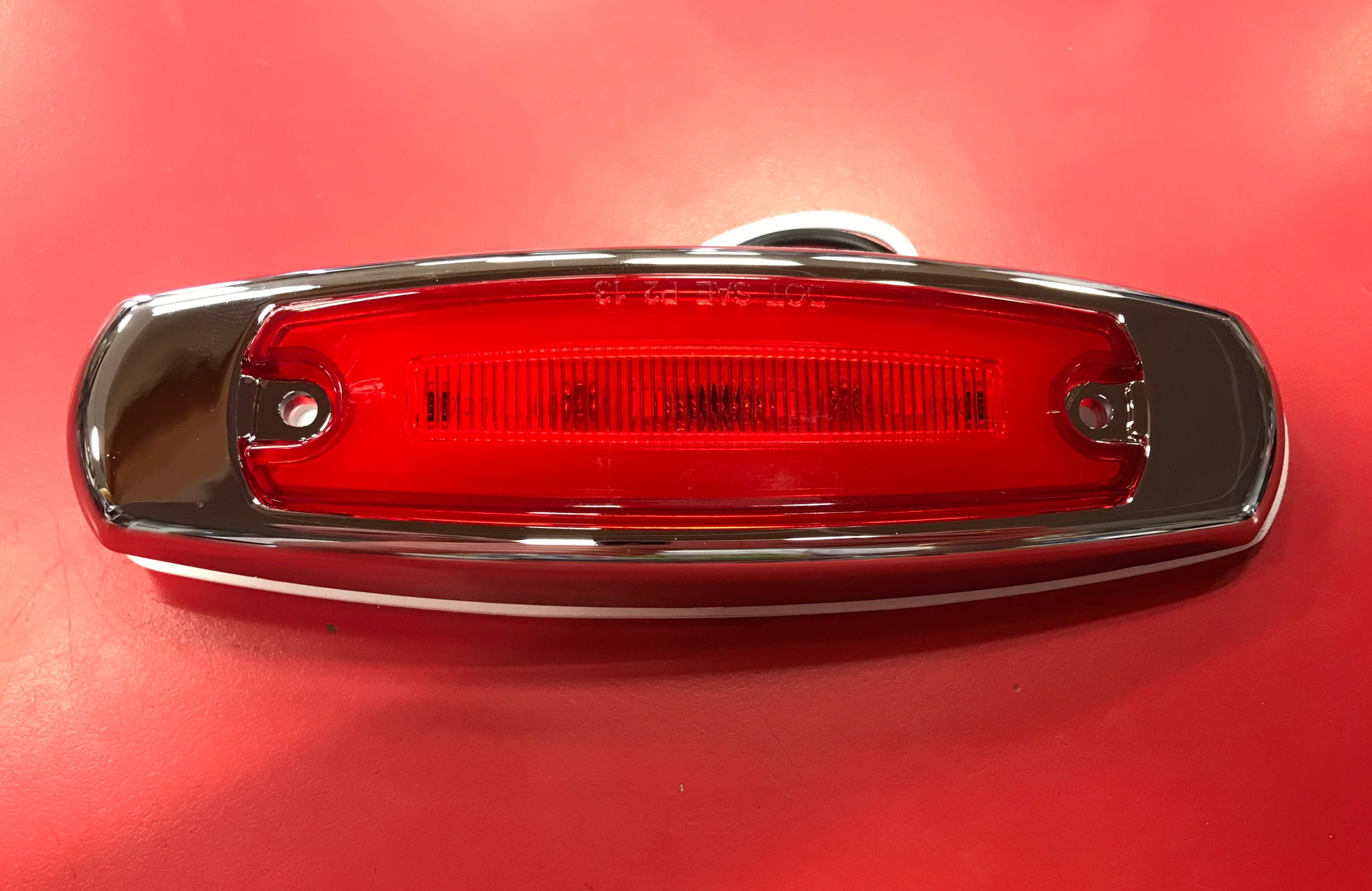 "Red 16 LED Rectangular Clearance/Marker ""Glo"" Light"