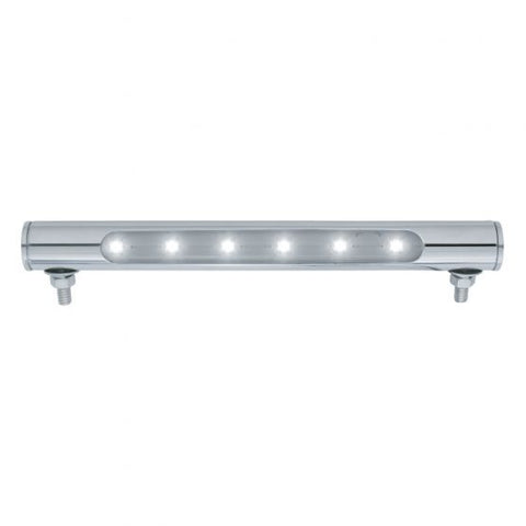6 LED Tube License Plate Light Polished