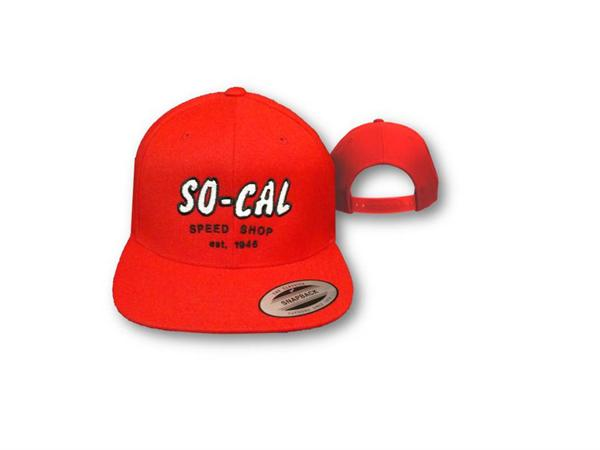 Classic Snap Back Script Hat, Red w/Embroidered White Script