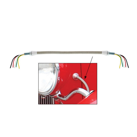 Headlight Conduit Set With 5 Wires (Pair)