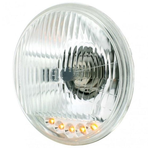"5 3/4"" Halogen Headlight with 5 Amber LED Position Lights"