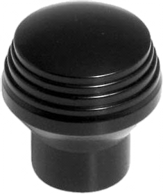 Satin Black Art Deco Knob