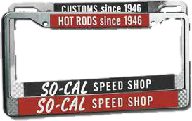 So-Cal License Plate Frames