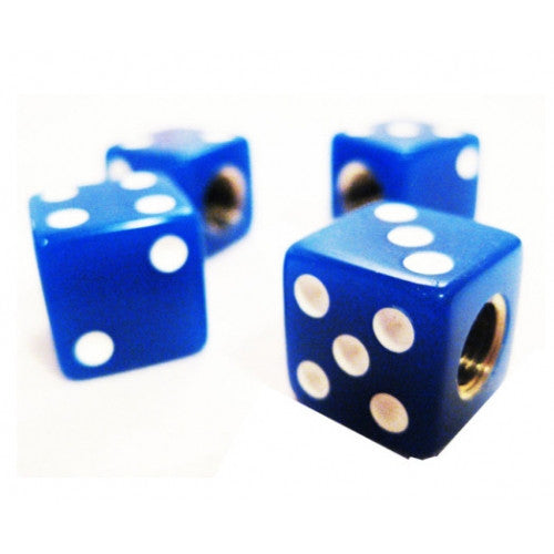 Blue Dice Valve Cap
