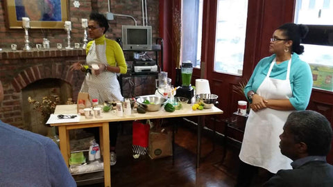 Raw Chard Soup Demo at Namaskar