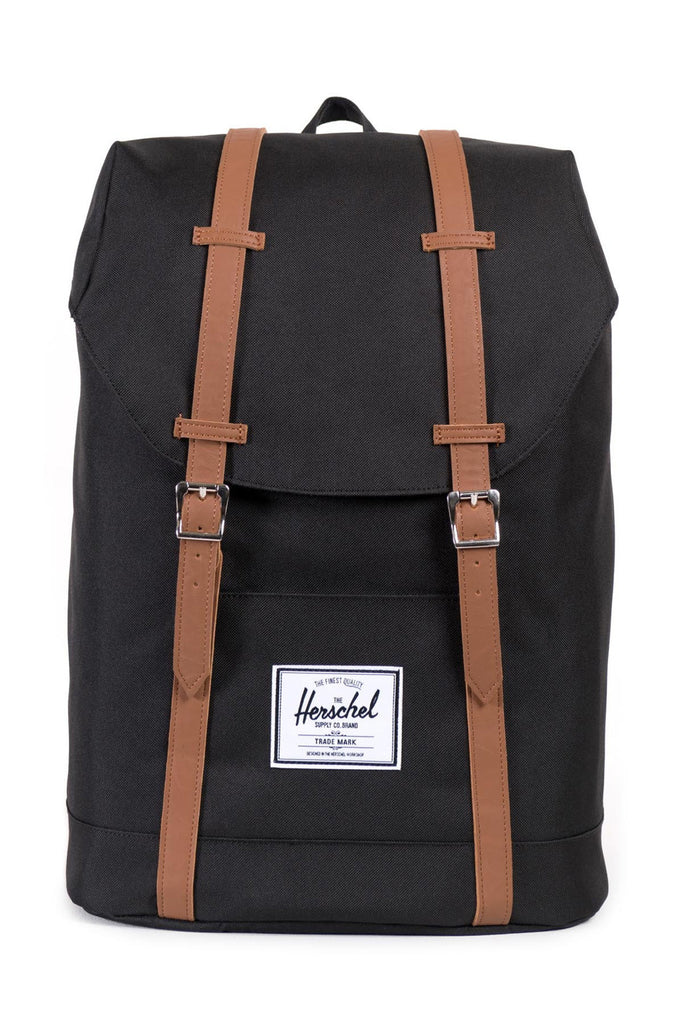 Herschel Supply Co. Retreat Backpack - Black/Tan Synthetic Leather