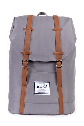Herschel Supply Co. Retreat Backpack - Grey/Tan Synthetic Leather
